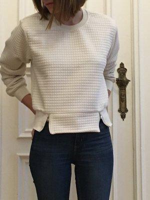 Außergewöhnlicher Pullover mit transparentem Rücken in weiß von Sweewe