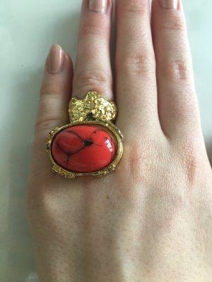 Anello di fidanzamento oro-rosso