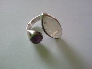 Anello argento-viola scuro