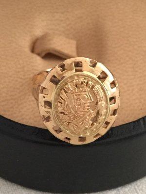 Außergewöhnlicher Ring mit Inka-Motiv aus Peru. 18 Karat