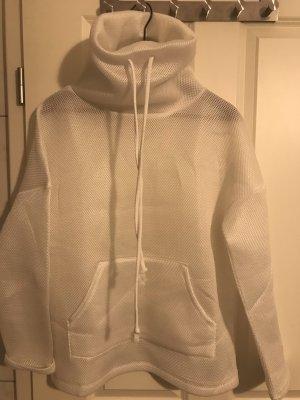 Zara Jersey de cuello alto blanco