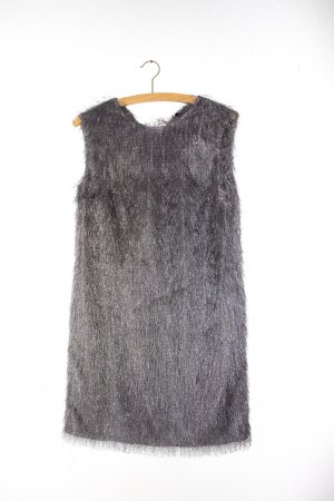 Fringed Dress silver-colored-grey mixture fibre