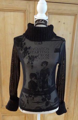 Promod Turtleneck Shirt black mixture fibre