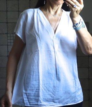 Aust Tunique-blouse blanc coton