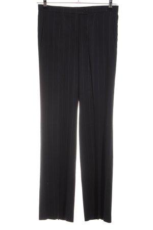 Aust Pantalon à pinces noir motif rayé style d'affaires