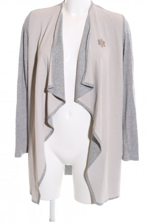 Aust Cardigan natural white-light grey flecked business style