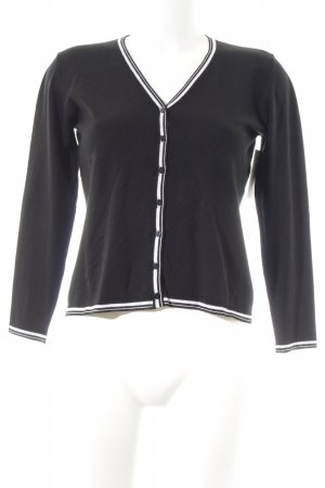 Aust Cardigan black-natural white casual look