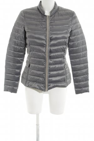 Aust Down Jacket light grey quilting pattern business style