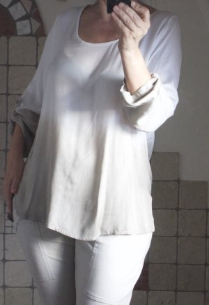 Aust Slip-over Blouse natural white-oatmeal viscose