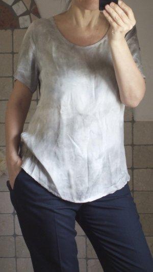 Aust Blusa ancha gris claro-beige claro Viscosa