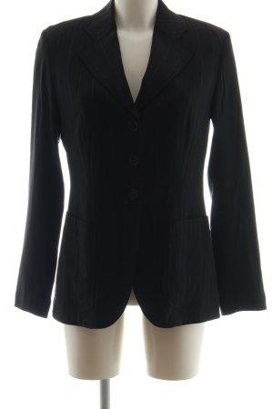 Aust Blazer court noir motif rayé style d'affaires