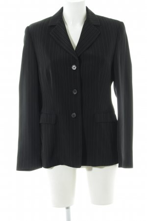 Aust Short Blazer black striped pattern business style