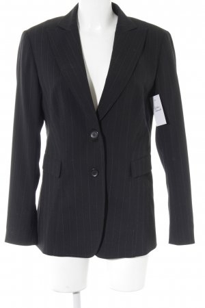 Aust Short Blazer black-white pinstripe business style