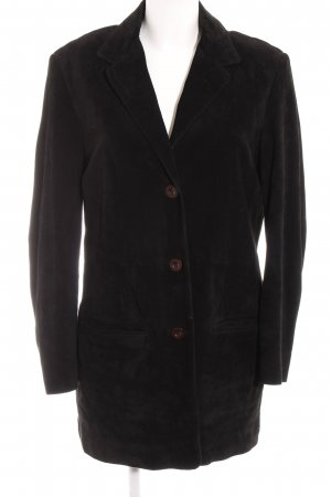 Aust Leather Coat black street-fashion look