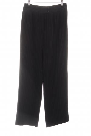 Aust Jersey Pants black striped pattern business style