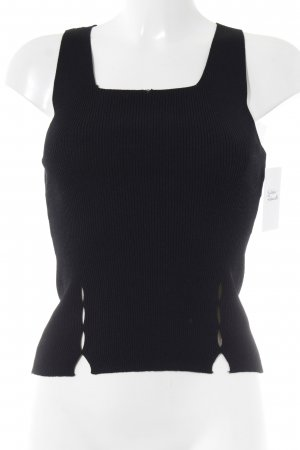 Aust Knitted Top black casual look