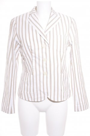 Aust Sweat Blazer beige-light brown striped pattern business style