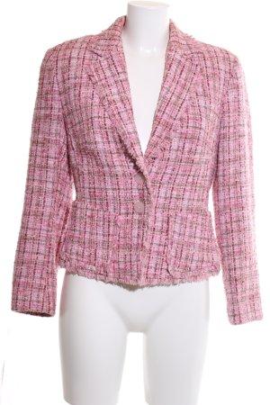 Aust Blazer en tweed motif à carreaux style d'affaires