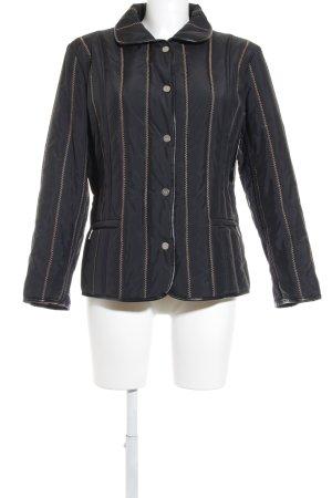 Aust Overgangsjack zwart-lichtbruin quilten patroon casual uitstraling