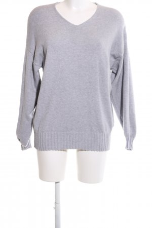 Aust V-Neck Sweater light grey casual look