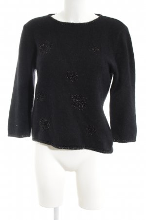 Aust Wool Sweater black casual look