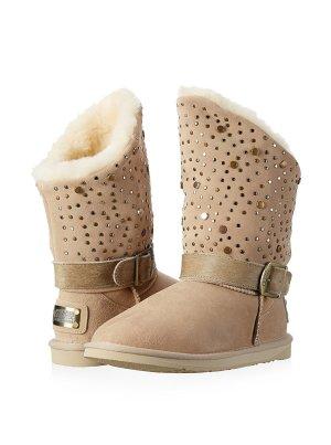 Australia Luxe Collective Stiefel beige Gr 39 Lammfell NEU OVP Bling UGG