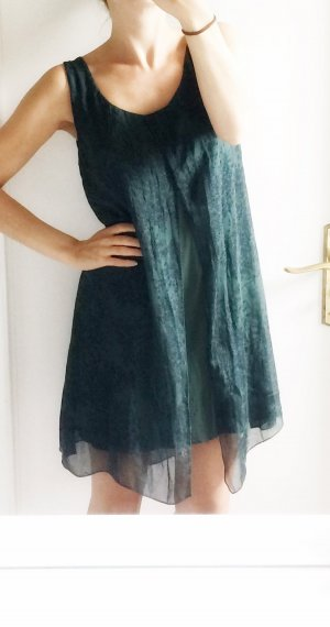 Made in Italy Dress forest green silk