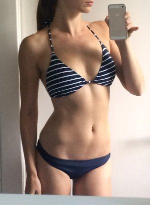 Bikini dark blue-white