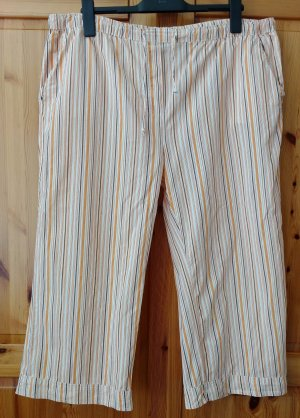 AUTHENTIC Capri Hose- weites Bein - orange Streifen gestreift Gr. 48