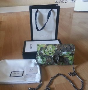 Authentic GG supreme DIONYSUS wallet-on bag mit silber chain