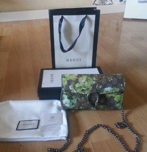 Gucci Bolso tipo pochette verde claro-color bronce Cuero