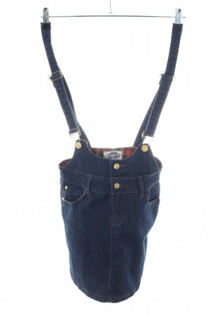 Authentic Pinafore Overall Skirt blue casual look
