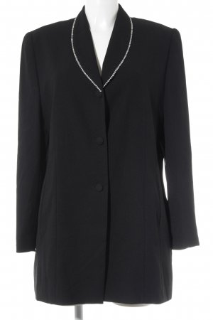 Authentic Long Blazer black-silver-colored business style