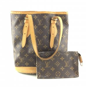 Authentic Louis Vuitton Bucket PM Shoulder Bag M42238 mit Pouch