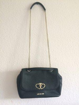 Authentic Love Moschino Schultertasche schwarz Designer Tasche