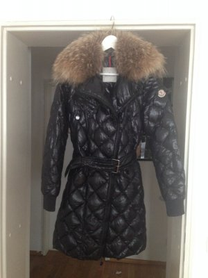 Authentic MONCLER Womens Puffer Coat with Fur Gr. 2,  Gr. 38
