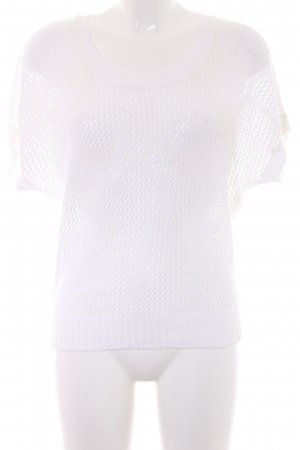 Authentic T-Shirt natural white loosely knitted pattern casual look