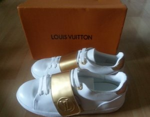 Louis Vuitton Sneakers white-sand brown leather