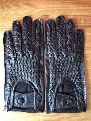 Autofahrerhandschuhe in Dunkelbraun Größe 8