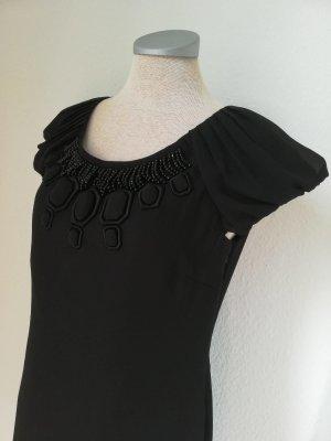 Autograph Kurzarmkleid Kleid schwarz Chiffon Gr. UK 8 EUR 36 Etuikleid neu