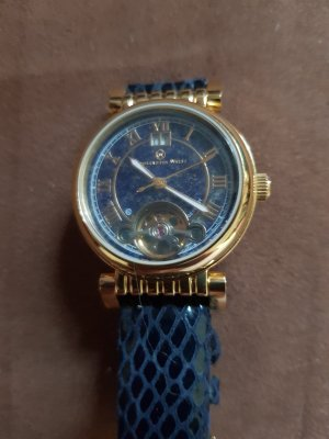 Self-Winding Watch gold-colored-dark blue