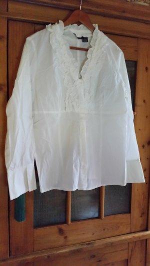 Ava & Grace Rüschenbluse, weiss, XL