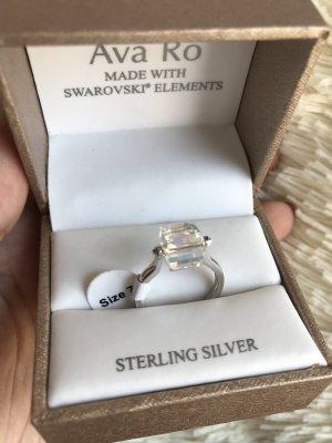 Ava Ro Ring echt Silber Swarovski Elements 16mm