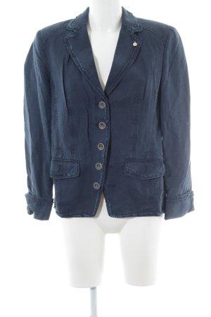 Ava Woman Blazer in jeans blu scuro stile casual