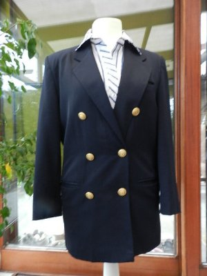 AVANCE Creation vintage Blazer-90s - Long Blazer- dark blue - Gr.36 - Top