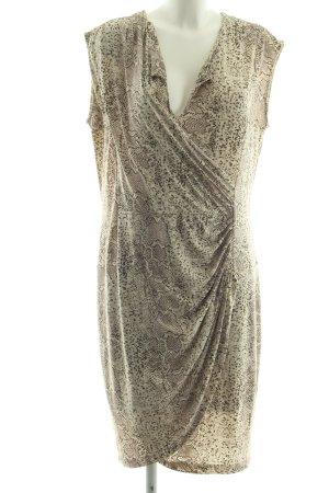 Avant Première Midi Dress brown allover print elegant