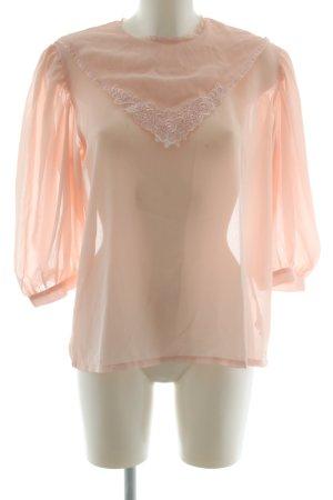 Avantgarde Langarm-Bluse nude Elegant