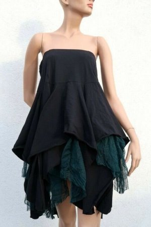 Corakempermann Asymmetry Skirt black cotton