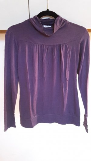 Avanti Turtleneck Shirt dark violet-blue violet mixture fibre