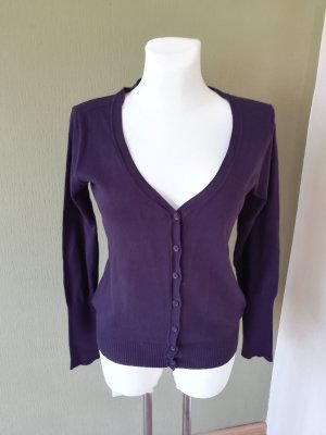 Avanti Knitted Cardigan dark violet cotton